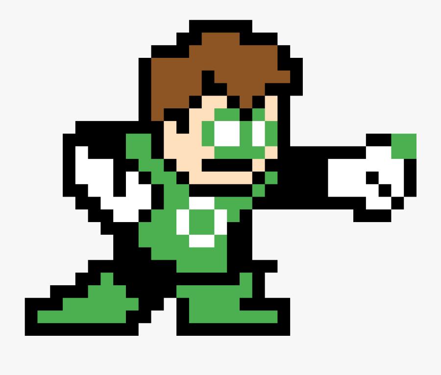Linterna Verde En Minecraft Clipart , Png Download - Green Lantern Perler Bead Pattern, Transparent Clipart