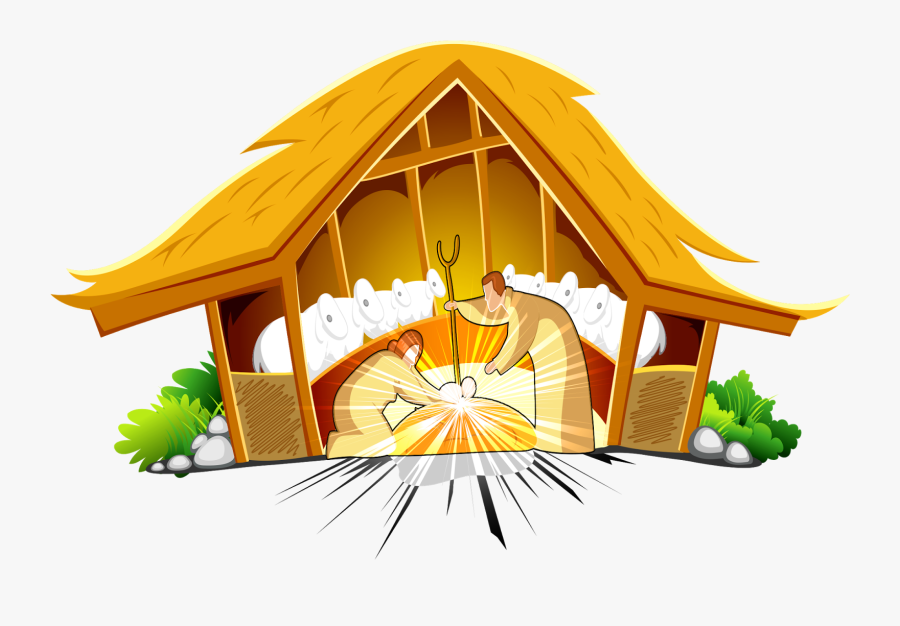Merry Christmas Birth Of Jesus, Transparent Clipart