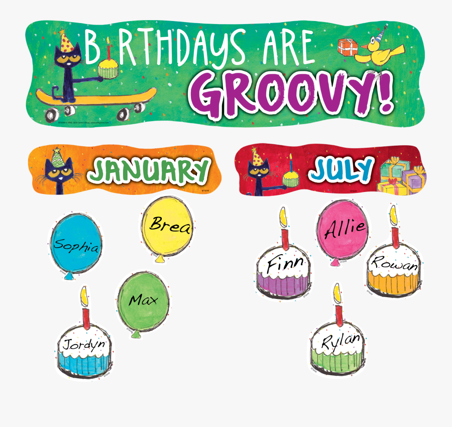 Pete The Cat Birthday Sign, Transparent Clipart