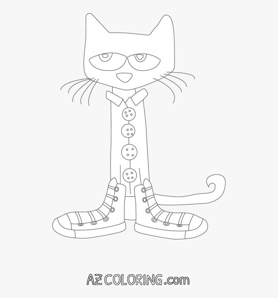 Pete The Cat Effective Coloring Pages Archives Best - Coloring Pete The Cat, Transparent Clipart