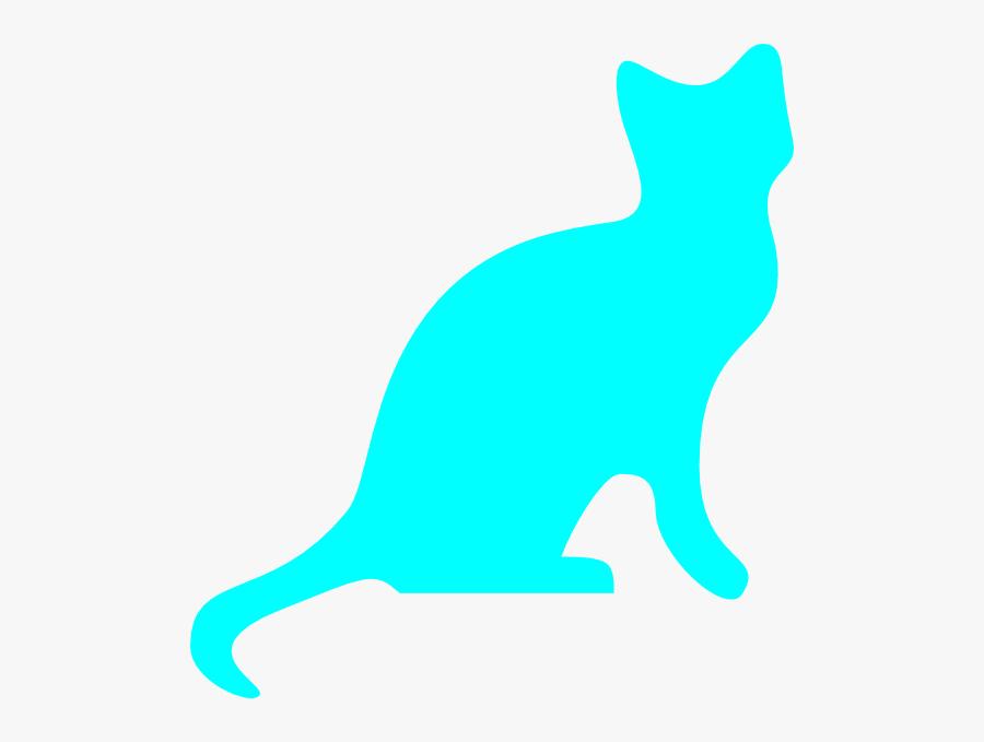 Kittens Clipart Blue Cat - Black Cat Silhouette Transparent, Transparent Clipart