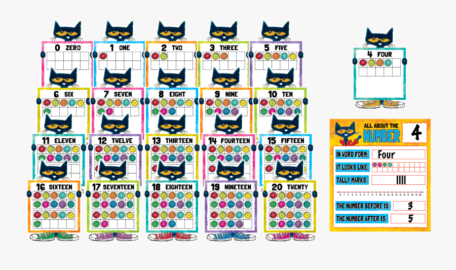 Pete The Cat Numbers, Transparent Clipart