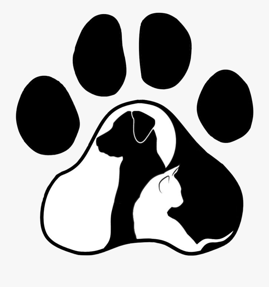 #sticker #pawprint #paw #dog #cat #cute #loveit #shilouette - Cat And Dog Svg, Transparent Clipart