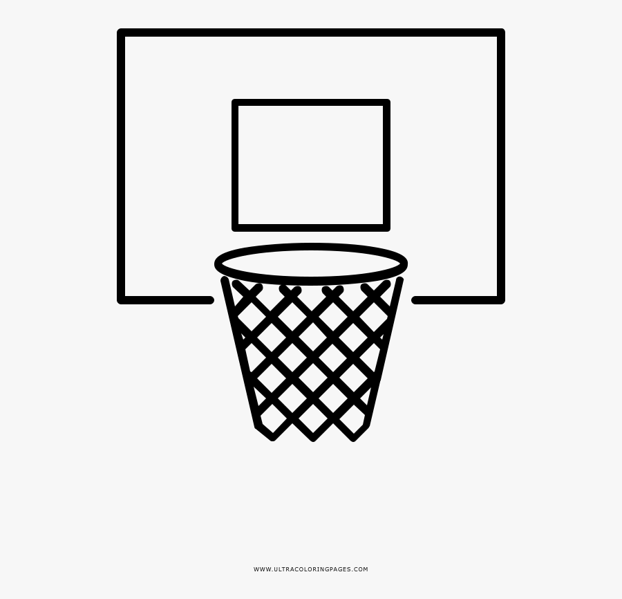Basketball Hoop Coloring Page Canasta