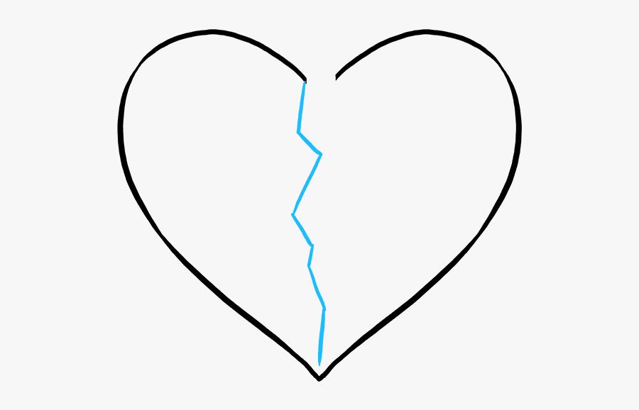 Clip Art How To Draw A - Draw Broken Heart, Transparent Clipart