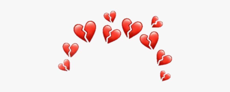#heart #broken #hearts #broke #brokenheart #brokenhearts - Broken Heart Crown Png, Transparent Clipart