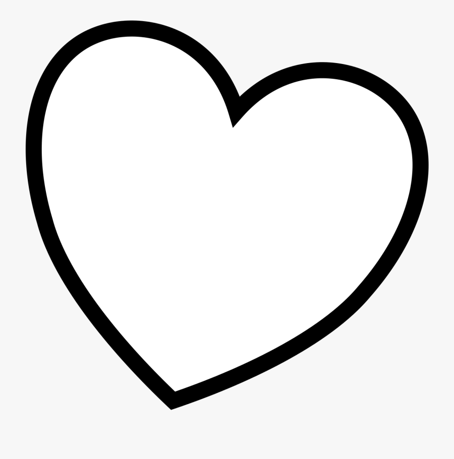 Heart Clip Art Coloring Pages - Valentines Day Coloring Hearts, Transparent Clipart