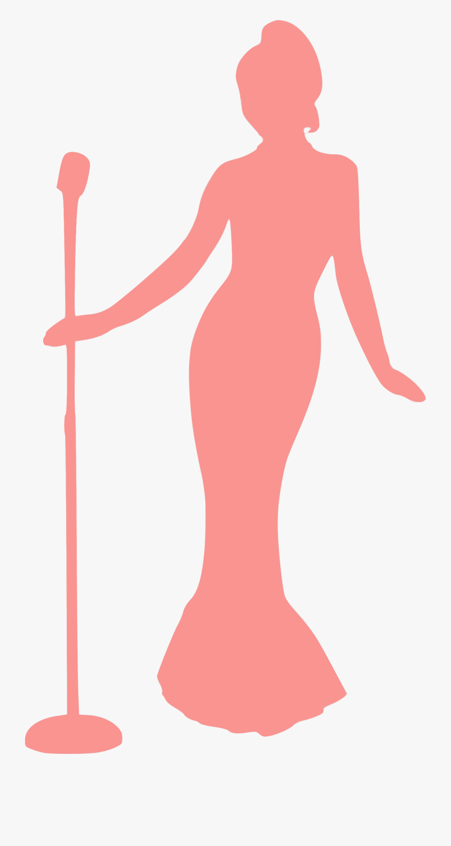 Silhouette Singing Clip Art Sketsa Gambar Orang Bernyanyi