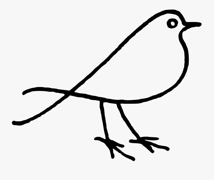 Line Art,plant,artwork - Black And White Clip Art Bird, Transparent Clipart