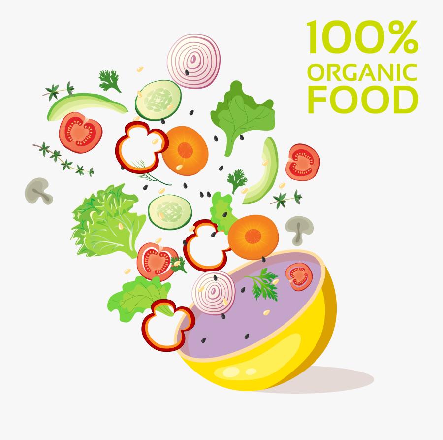 Organic Food Advertising Ingredient Vegetable - Gambar Iklan Sayur Dan Buah, Transparent Clipart