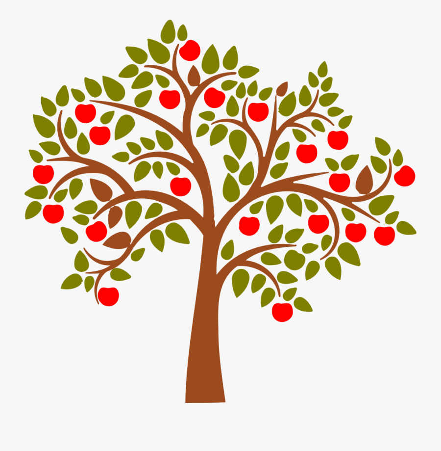 Apple Tree Vector Png, Transparent Clipart