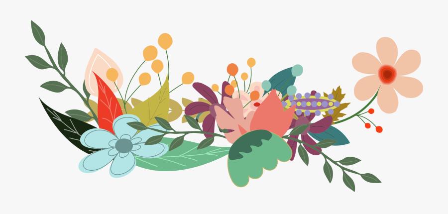 Raven With Key Minus Raven And Key Flowers Clip Arts - Transparent Flower Illustration Png, Transparent Clipart