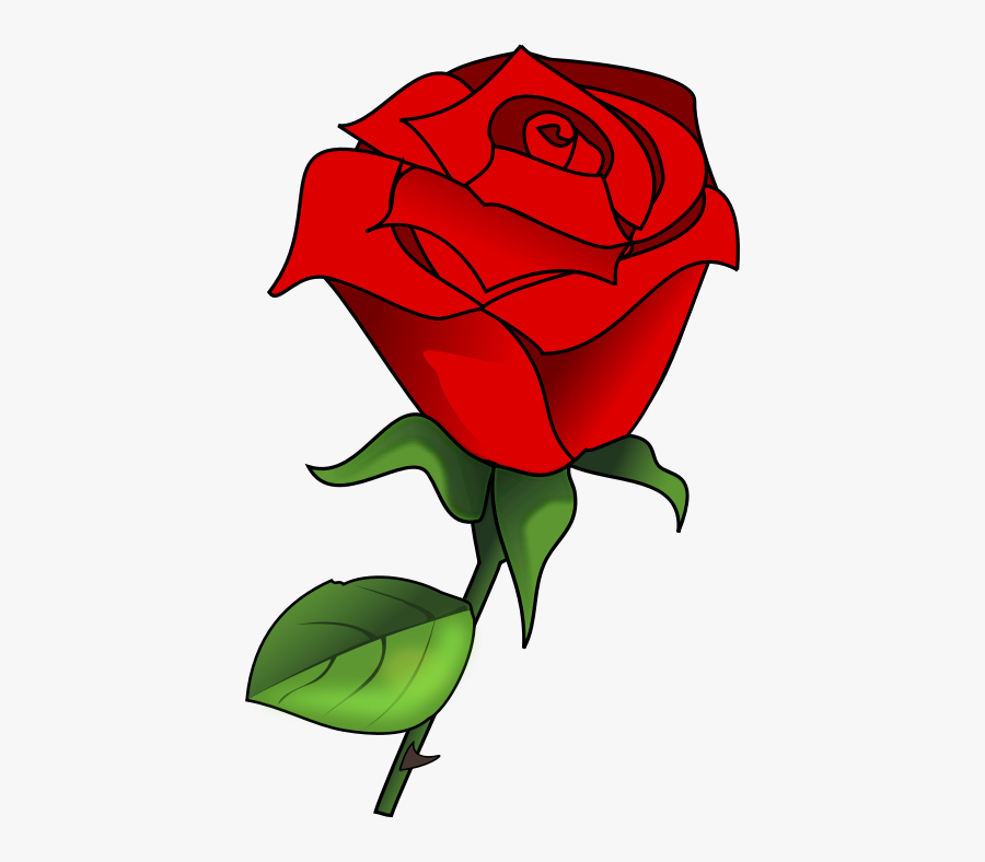 Free Lovely Red Rose Clip Art - Rose Flower Vector Png, Transparent Clipart