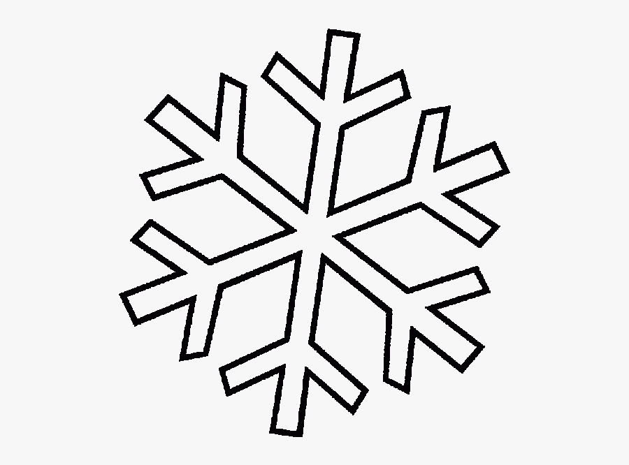 Transparent Snow Flake Clipart - Printable Colouring Pages Christmas Snowflake, Transparent Clipart
