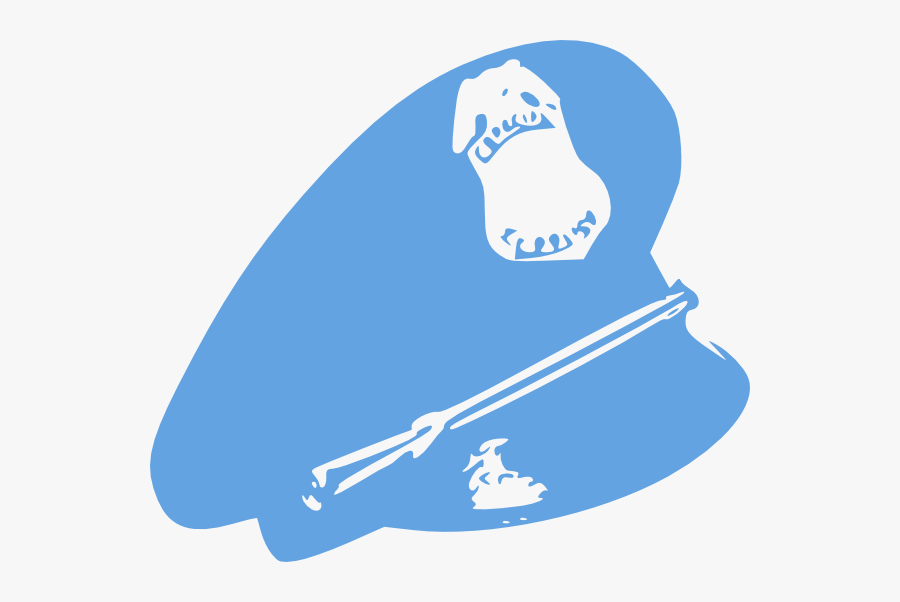 Clipart Police Blue Hat, Transparent Clipart