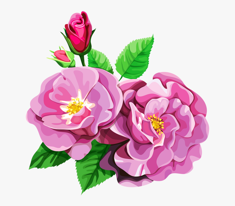 Rose Bouquet Cli̇part Transparent - Desert Rose Clip Art, Transparent Clipart