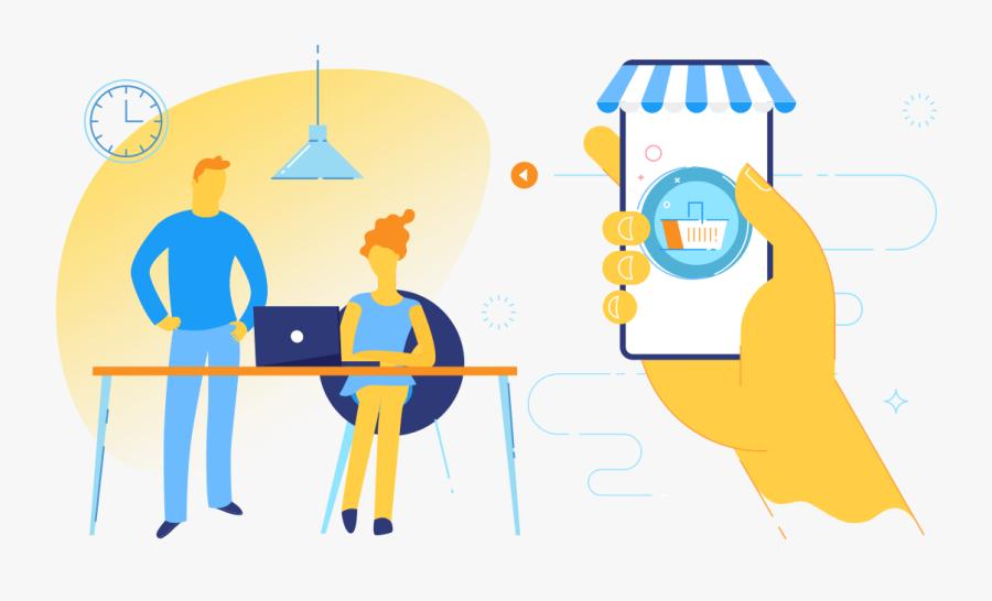 Choosing A Shopping Cart Software - Online Shopping Cart Illustration, Transparent Clipart