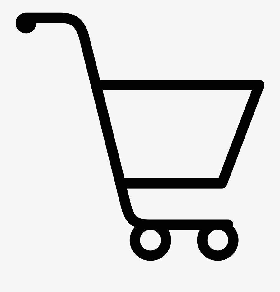 Online Shop Black And White, Transparent Clipart