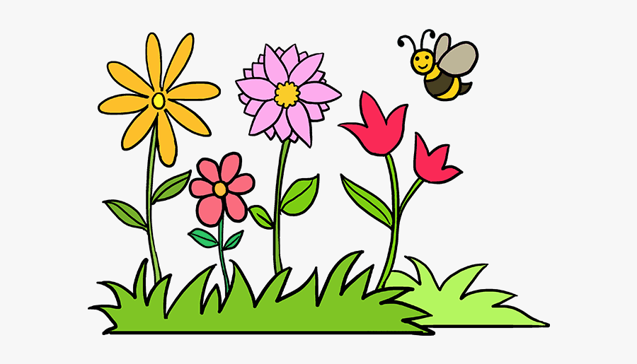 how to draw flower garden easy to draw garden free transparent clipart clipartkey how to draw flower garden easy to