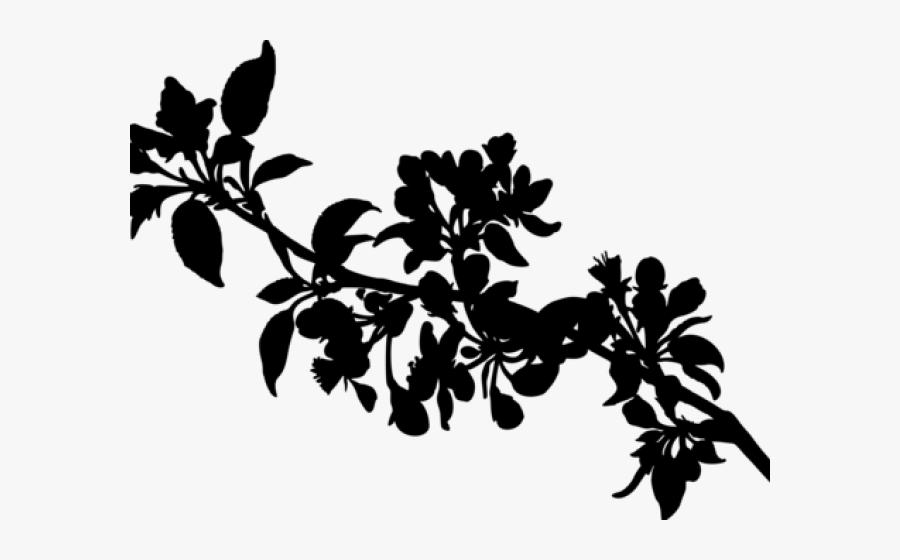Sunrise Clipart Silhouette - Apple Tree Branch Clip Art, Transparent Clipart
