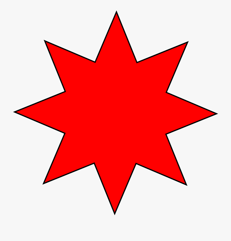 Transparent Star Clipart - 8 Point Star Vector, Transparent Clipart