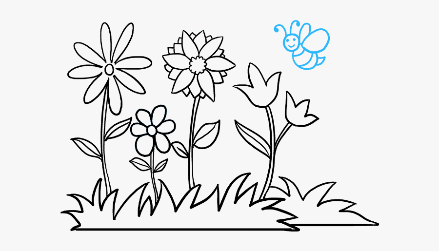how to draw flower garden flower garden pictures to draw free transparent clipart clipartkey how to draw flower garden flower