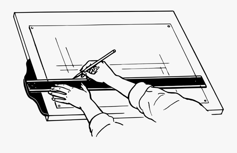 Clipart Stock Drawing Clipboard Drafting - Diagram Of A Drawing Board, Transparent Clipart