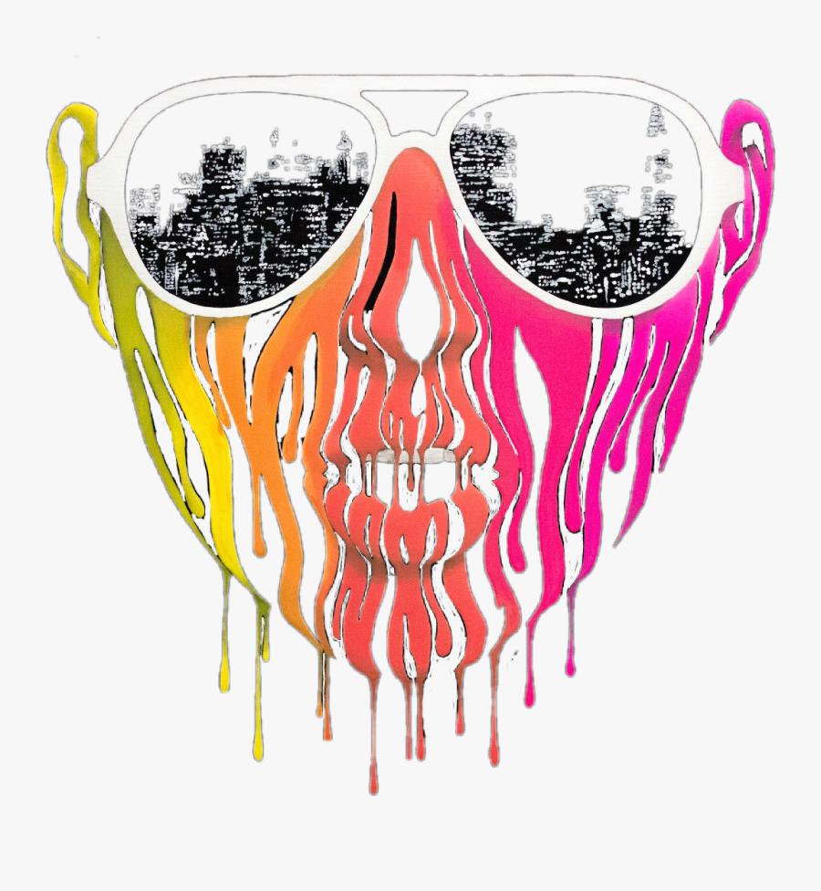 #paint #drip #art #glasses #sunglasses #people #face - Illustration, Transparent Clipart