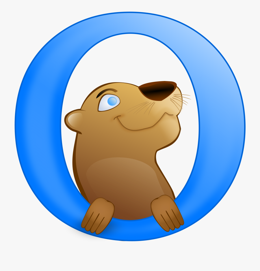 Otter Clipart Transparent Clip Art Library - Otter Browser Logo, Transparent Clipart