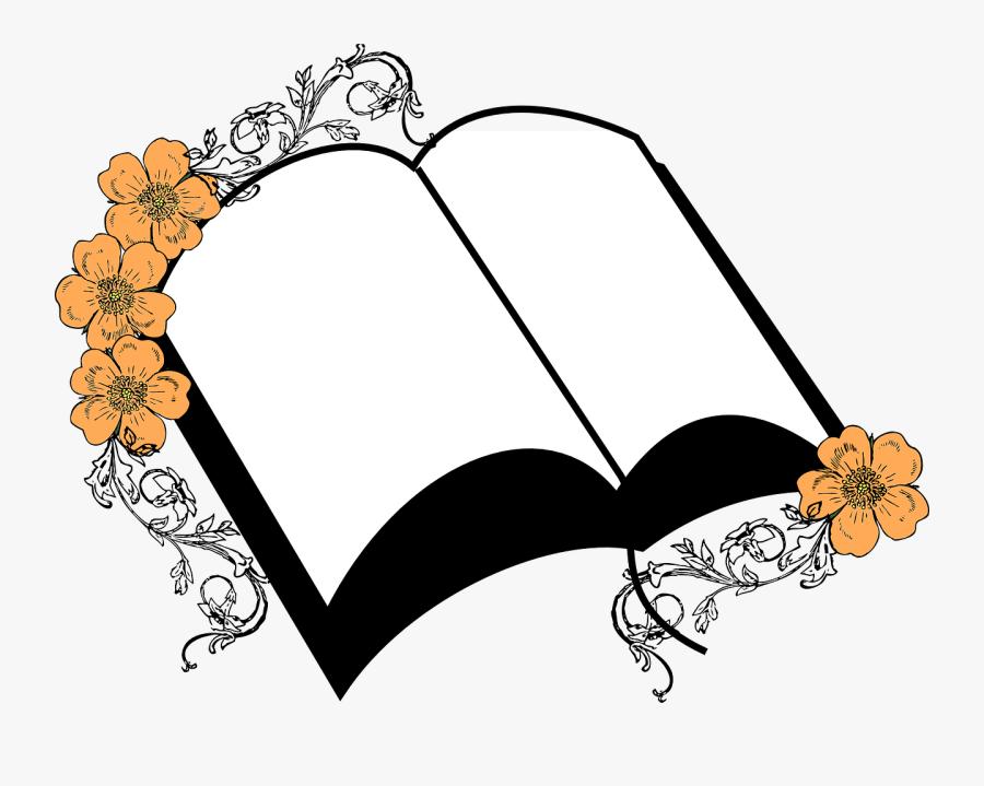 Floral Journal Record Bible Wedding Memorial Biblia Aberta Desenho Png Free Transparent Clipart Clipartkey