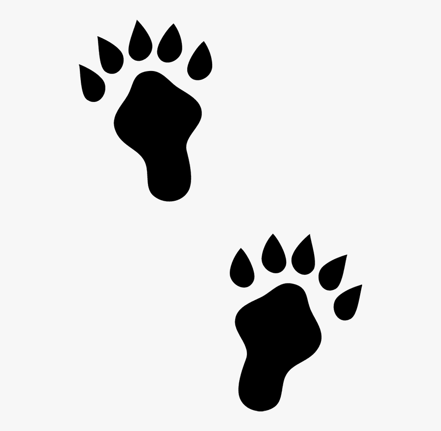 Otter Paw Prints, Transparent Clipart
