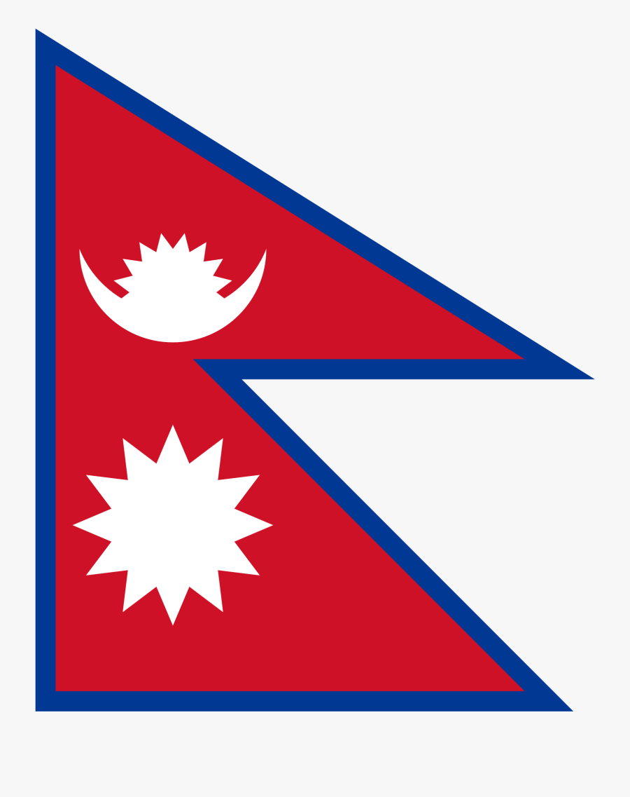 Lukla Clipart Otter - Nepal Flag High Resolution, Transparent Clipart