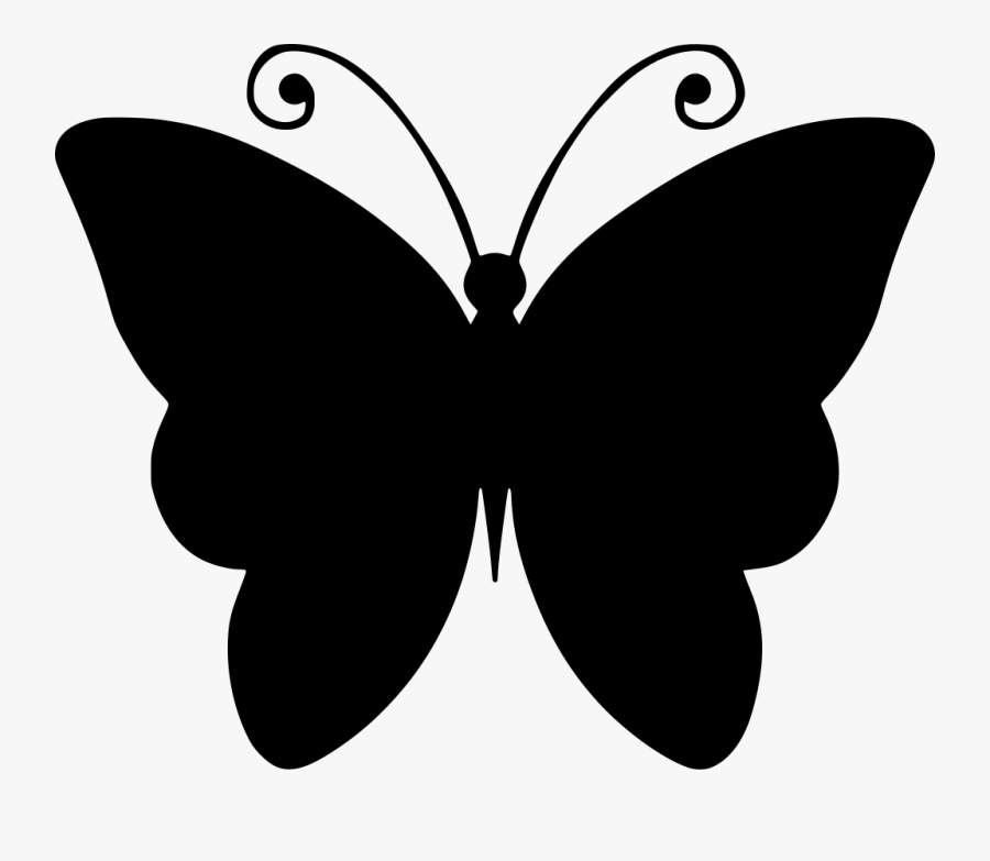 Black And White Butterfly Drawing Clipart , Png Download - Butterfly Clip Art Outline, Transparent Clipart