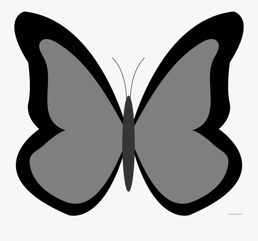 Butterfly Huge Animal Free Black White Clipart Images - Clip Art Blue Butterfly, Transparent Clipart
