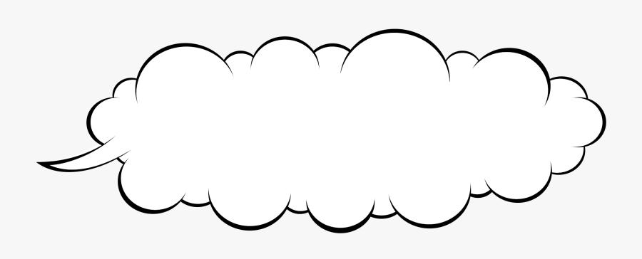 Line Art,leaf,symmetry - Speech Cloud, Transparent Clipart