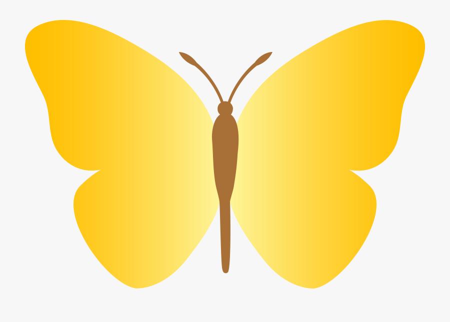Plain Yellow Butterfly, Transparent Clipart