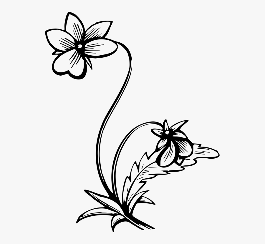 Computer Icons Brush-footed Butterflies User Interface - Flower With Heart Clipart Black And White, Transparent Clipart