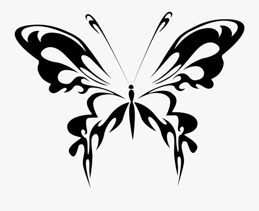 Vector Free Clipart Black And White Butterfly Gambar Kupu Kupu Hitam Putih Free Transparent Clipart Clipartkey