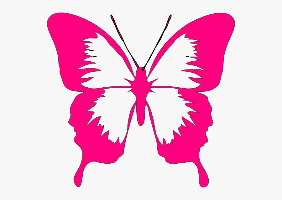 Pink Butterfly - Colorful Butterflies Clip Art, Transparent Clipart
