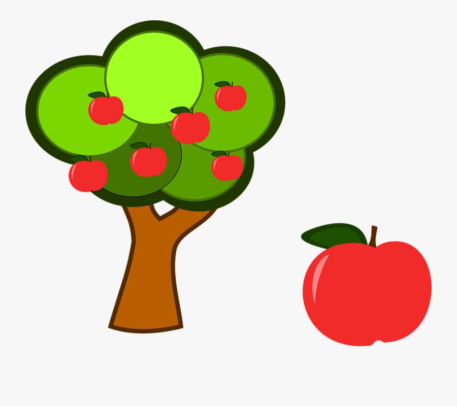 Apple Tree, Fruit, Red Apple, Branch, Tree, Ripe - Arbol Con Manzanas Png, Transparent Clipart