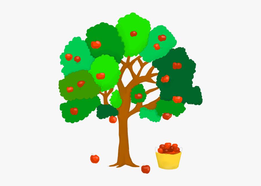 Apple Tree, Apple, Red, Branch, Vitamins, Healthy - ต้น แอ ป เปิ้ ล การ์ตูน, Transparent Clipart