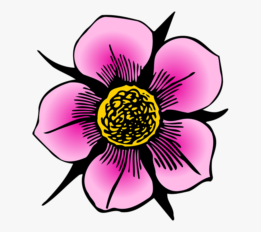 Collection Of Flower Petal Clipart - Flower Computer Drawing, Transparent Clipart