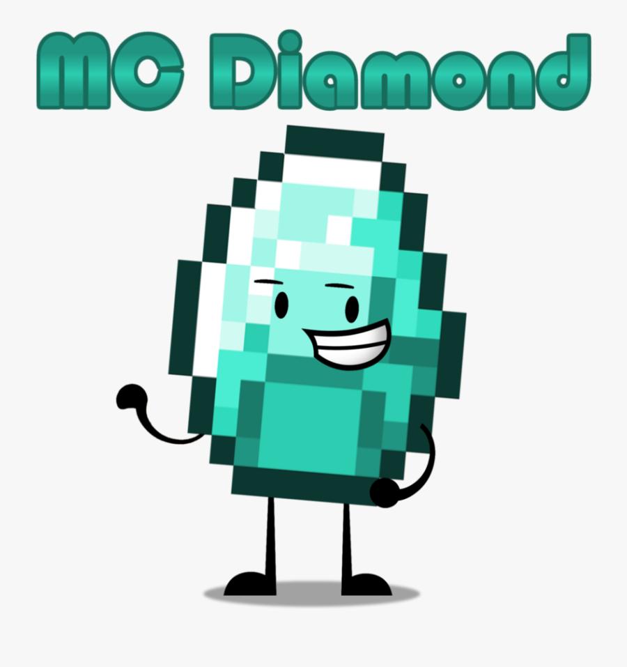 Transparent Diamond Minecraft Png Minecraft Diamond Pixel