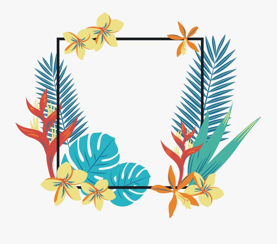 Transparent Tropical Cliparts - Png Tropical Border, Transparent Clipart