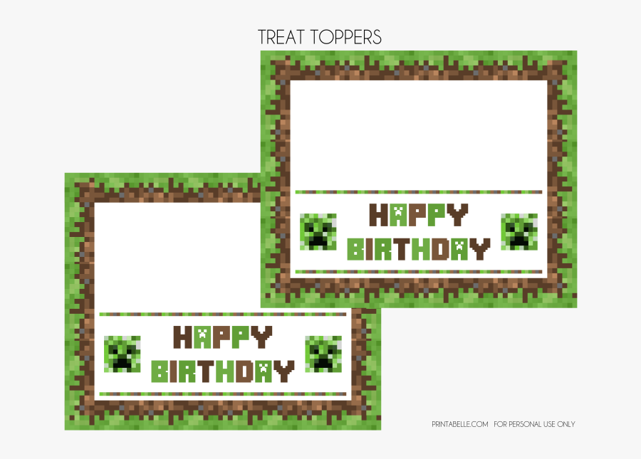 It's just a photo of Printable Minecraft Cupcake Toppers with cute minecraft birthday