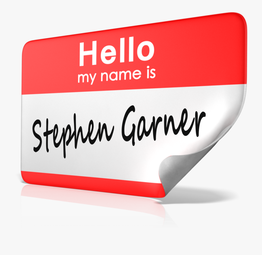 Transparent Hello My Name Is Nametag Png - Clip Art Name, Transparent Clipart