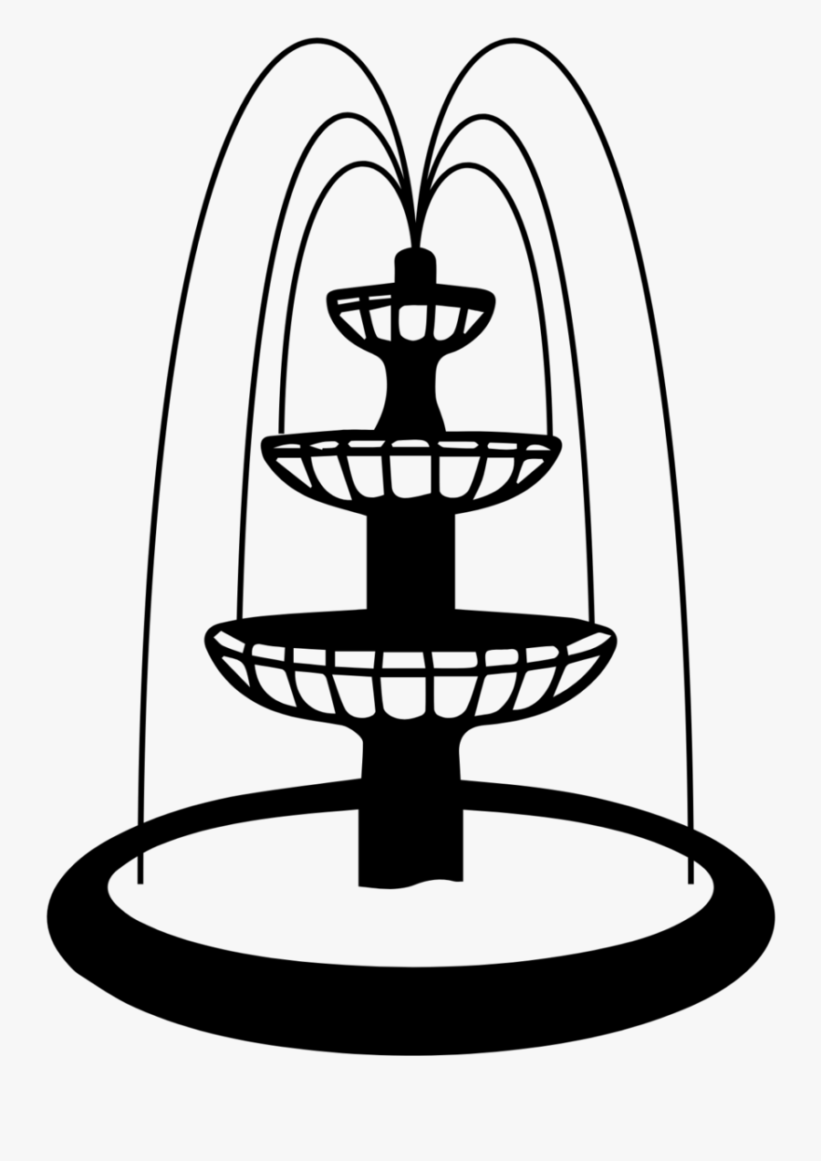 Forsythfountain Water Fountain Easy Drawing Free Transparent Clipart Clipartkey