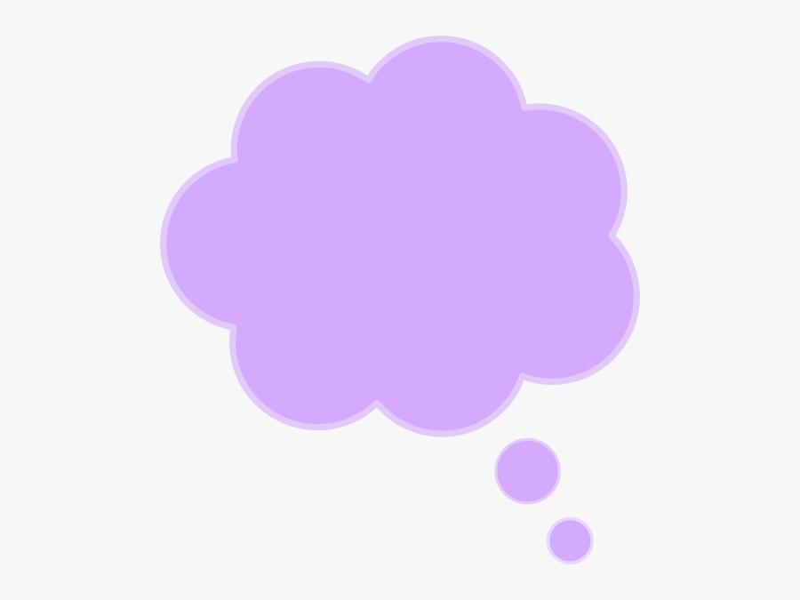 Purple Thought Bubble Clip Art - Purple Speech Bubble Transparent, Transparent Clipart