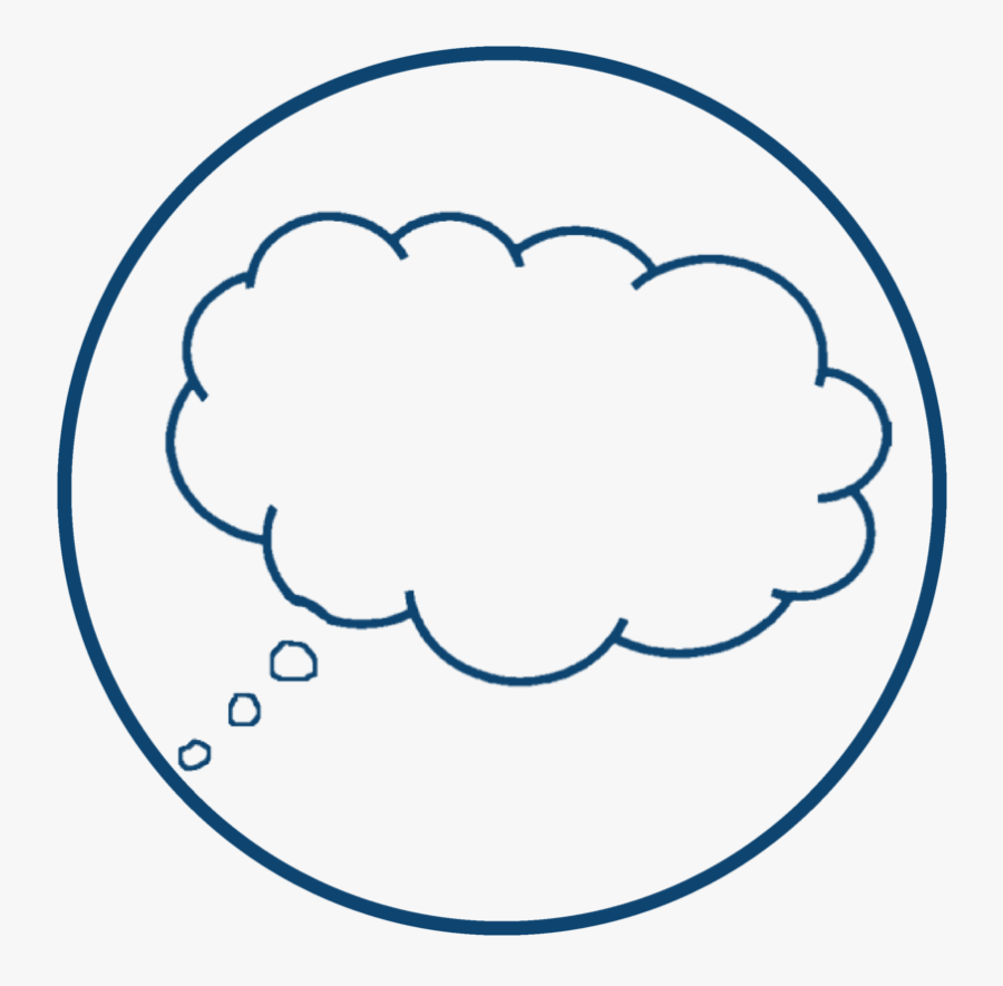 Transparent Vision Icon Png - Thought Bubble Png, Transparent Clipart