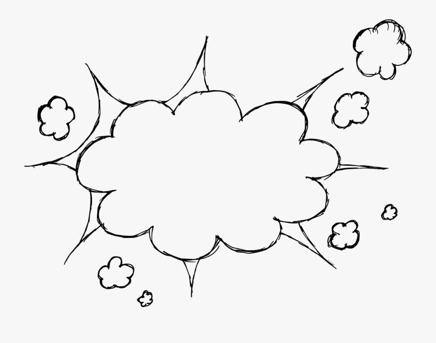 Speech Bubble Clipart Drawn Thought Png - Transparent Explosion Comic Book Bubble, Transparent Clipart